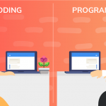 Difference between coding and programming