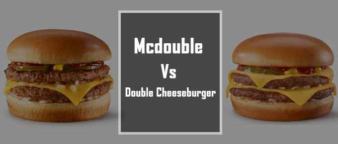 Difference between mcdouble and double cheeseburger